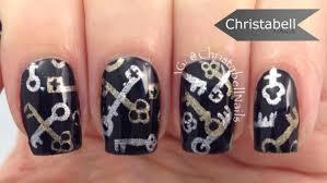 key nail art design tutorial u2013 unlock new adventures this year