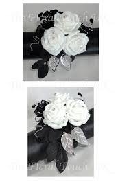 black and white corsage black and white wrist corsage pictures to pin on