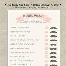 who said it bridal shower he said she said bridal shower guess who said it