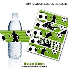 soccer water bottle labels printable water bottle labels
