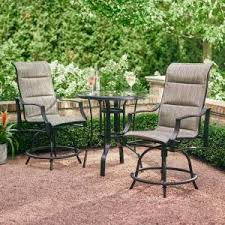 Outdoor Furniture Balcony by Hampton Bay Aria 3 Piece Balcony Patio Bistro Set Fcs80223ast