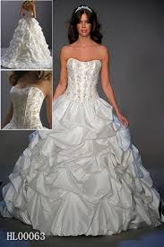 bridal gown with pickups