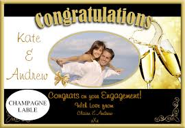 Wedding Engagement Congratulations Personalised Wedding Engagement Congratulations Wine Champagne