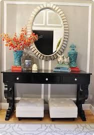 Black Entryway Table 58 Best Entrance Way Decorating With A Sofa Console Table Images