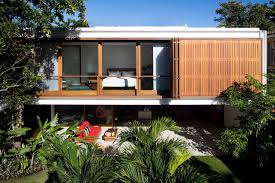 modern open plan house with inner courtyard home improvement modern open plan house wooden slats folding openings