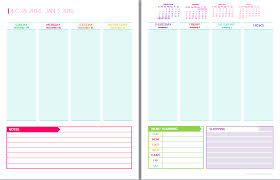 free printable 2016 day planner 6 best images of 2 page weekly 2016 planner printables free