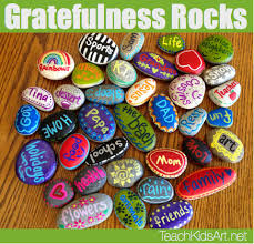 Fruit Of The Spirit Crafts For Kids - gratefulness rocks for thanksgiving remind kids and students the