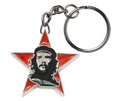 red key rings images Che guevara key chain with classic che image on red star pendant jpg