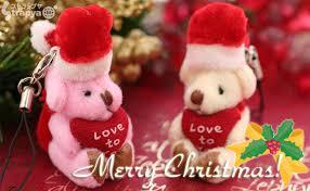 strapya love mini teddy bear santa claus cell phone