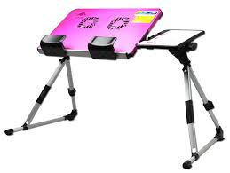 Pink Laptop Desk Awesome Adjustable Desk Stand Plastic Construction White And Pink