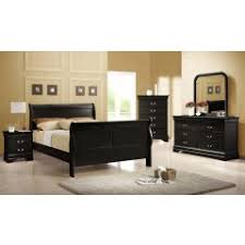 black sleigh bedroom set louis philippe black queen size sleigh bed home elegance usa