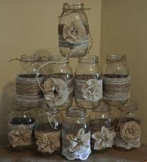 set of 10 jar sleeves burlap wedding decorations rustic