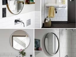 bathroom round bathroom mirrors 3 round bathroom mirrors wall