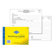 accident injury report form template register of injuries officeworks zions work cover register of injuries nsw book