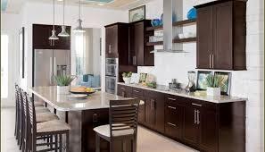 Espresso Kitchen Cabinets With Granite Dining Kitchen Espresso Kitchen Cabinets And Tile Backsplash