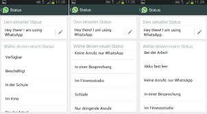 status sprüche whatsapp whatsapp status ändern so funktioniert s freeware de