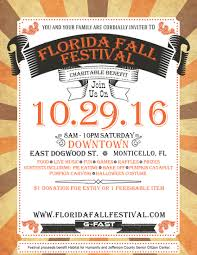 the florida fall festival presented by g fast tallahassee arts guide