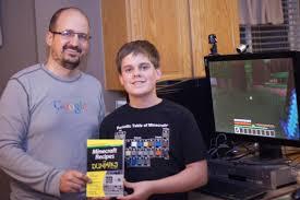 12 year old utah boy authors u0027minecraft for dummies u0027 books