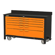 Rolling Tool Chest Work Bench Swivel 12 Drawer 60 Inch Rolling Workbench Amazon Com