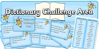 Challenge Dictionary Dictionary Challenge Area Pack Pack Resource Pack Zip Pack