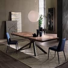 Designer Esstisch Kaleidoskop Effekte Moderner Esstisch Holz Stahl Oval Gaia Thors Design