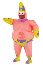 spongebob inflatable mr superawesomeness kids costume mr costumes
