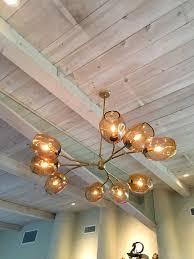 branch chandelier custom staccato branch globe chandelier in light by