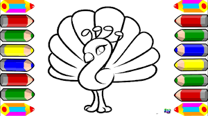 learn colors for kids peacocks coloring page beautiful peacock