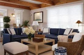 Cape Cod Chairs Cape Cod Style Furniture With Dark Blue Sofa And Rattan Chair