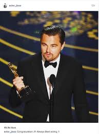 Leo Meme Oscar - korean celebrities congratulate leonardo dicaprio on finally winning