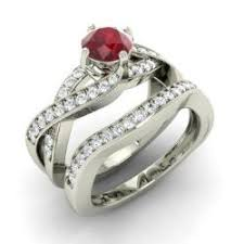 Wedding Set Rings by Bridal Ring Set Ruby Ruby Bridal Rings Diamondere