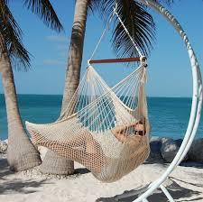 large caribbean hammock chair cream 48 inch soft spun polyester