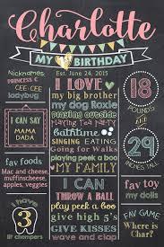 birthday chalkboard girl birthday chalkboard pastel 1st birthday