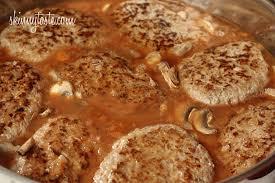 turkey mushroom gravy review by salisbury steak with mushroom gravy recipe skinnytaste