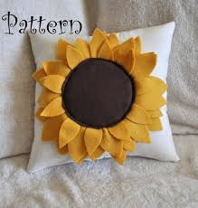 Diy Sewing Projects Home Decor Felt Sunflower Pillow Pattern Diy Tutorial Flower Pattern Home
