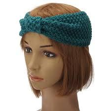 ear warmer headband 1 pc women crochet bow knot turban knitted wrap hairband