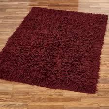 Shaggy Area Rugs Burgundy Flokati Wool Shag Area Rugs