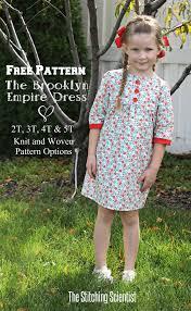 dress pattern 5 year old free pattern the brooklyn empire dress the stitching scientist