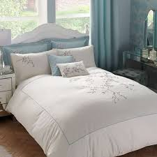 Dunelm Mill Duvet Covers Misaki Emboridered Cream Duvet Cover Dunelm