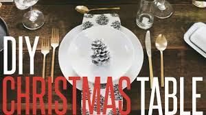 diy christmas table setting youtube