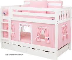 best bunk bed stuff images on pinterest   beds girls  with bunk bed curtains pink  white  low bunk bedskids  from pinterestcom
