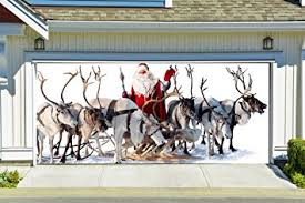 amazon com christmas garage door cover banners 3d santa holiday