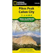 Canyon City Colorado Map by 137 Pikes Peak Canon City Trail Map National Geographic Store