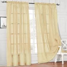 Yellow Sheer Curtains Sheer Curtain Window Curtains Scarves Bedroom Voile Drape Panel