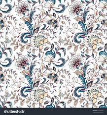 provence style vintage flowers seamless background provence style stock vector