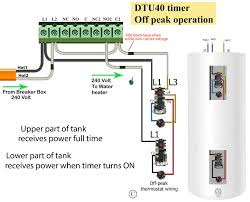 Tork Plug In Timers Dimmers by Water Heater Wiring With Electrical Pics Diagrams Wenkm Com
