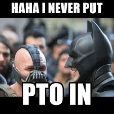 Bane Meme Generator - haha i never put pto in laughing batman and bane meme generator