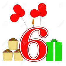number six candle meaning festive occasion or decorated