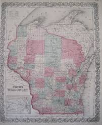 Wisconsin Railroad Map by Antique Maps Of Wisconsin