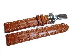 bracelet cuir montre images Bracelet de montre cuir de veau grain croco marron clair png